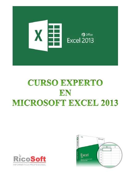 Curso Experto en Excel 2013