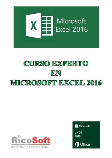 Curso Experto en Excel 2016